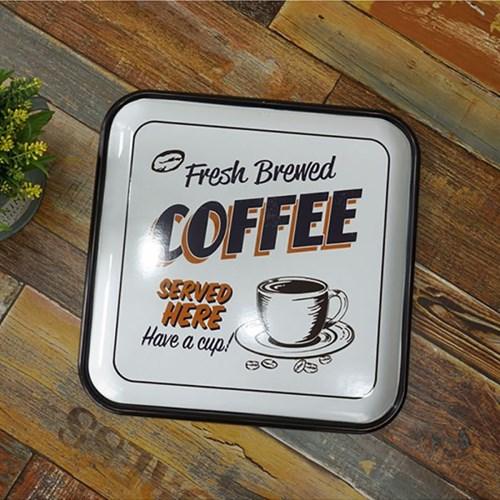 정사각 틴 커피 벽장식