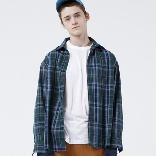 GREEN CLASSIC CHECK SHIRTS (GREEN)_(401030402)
