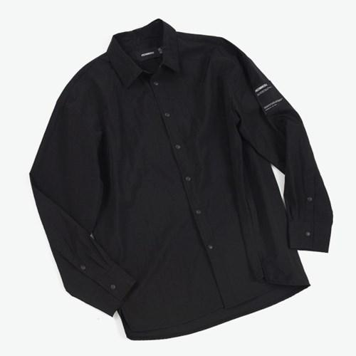 NYLON COMFY SHIRTS (BLACK)_(401030297)