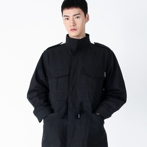 (UNISEX)Safari Multi Field Jacket(BLACK)