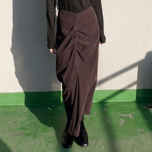 corduroy shirring skirts (2colors)_(1368115)