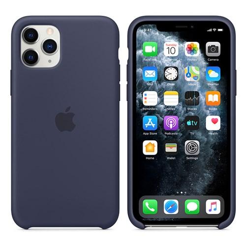 iPhone 11 Pro 실리콘 케이스 - 미드나이트 블루 MWYJ2FE/A