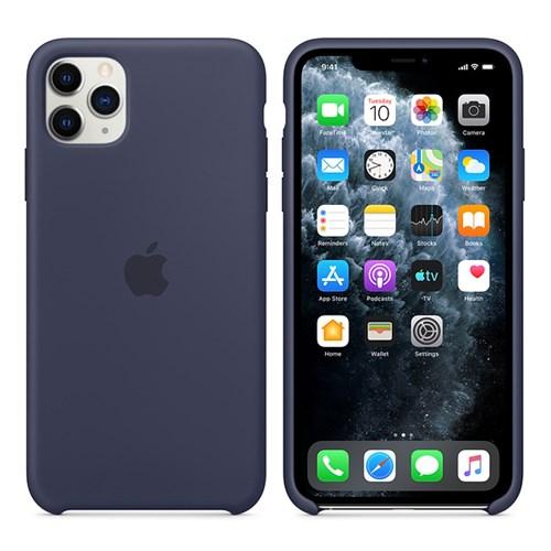 iPhone 11 Pro Max 실리콘 케이스 - 미드나이트 블루 MWYW2FE
