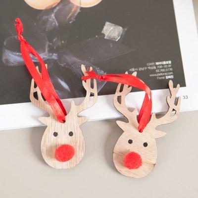 우드방울사슴 9cm(8개입) 크리스마스 장식 TROMCG_(1577575)