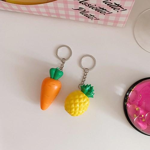 Carrot & Pineapple Keyring 당근&파인애플키링