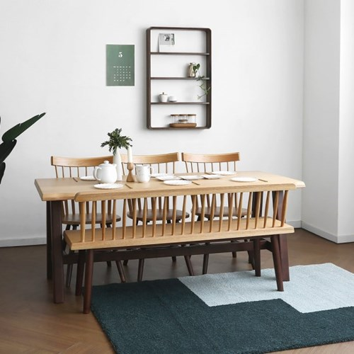 [오크] M2형 식탁/테이블 세트 투톤컬러_(1405049)