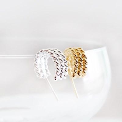 (92.5 silver) triple line earring
