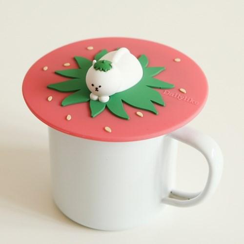 실리콘 머그 리드 - 04 Strawberry cat