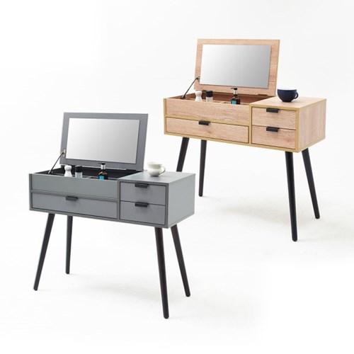 [데코마인] 체시 심플 화장대 수납형화장대 콘솔세트