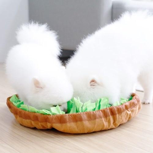 펫크미 잔디 노즈워크 강아지 장난감 코담요