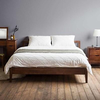[리퍼브]라떼슬림 원목 퀸 침대