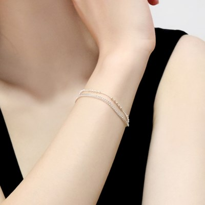 (92.5 silver) mix chain bracelet