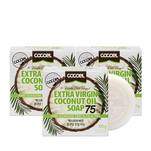 [코코엘] 엑스트라버진 코코넛오일 천연비누 100g 3개