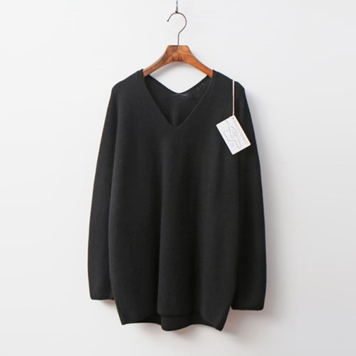 Laine Cashmere N Wool Grace V-Neck Sweater