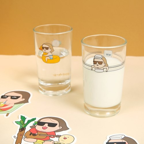 퀴퀴한일기 유리컵