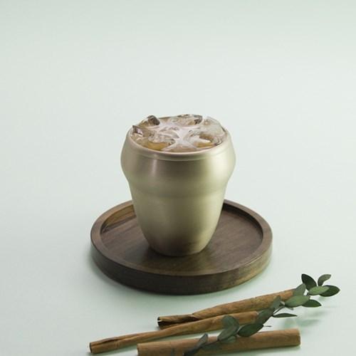 한놋 유기 옥맥주컵 유기컵 유기그릇 놋그릇