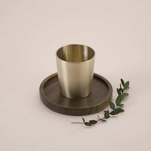 한놋 유기 일자물컵 머그컵