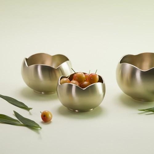 한놋 유기 꽃볼 (3 size) 유기볼 유기그릇 놋그릇