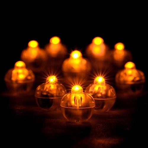 LED 벌룬라이트 [황색등] 10개입_(11867344)