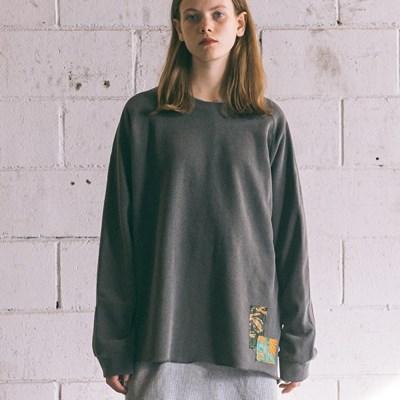 [Patchwork Sweatshirt] Charcoal