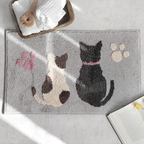 보송이 면 직사각 발매트(2046) 고양이