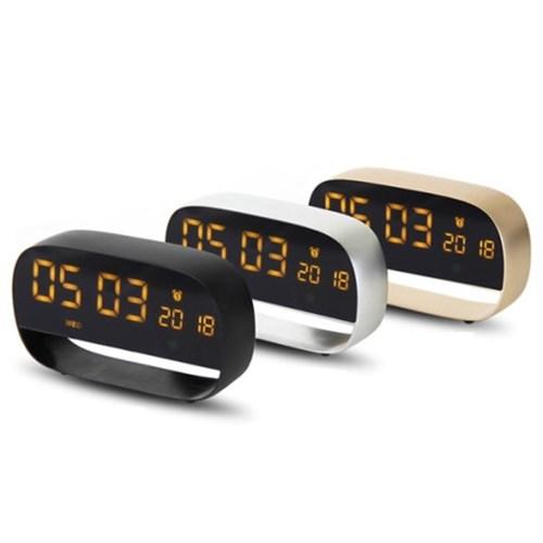 텐교 무소음 알루미늄 LED 디지털 알람시계 TK-AMC01