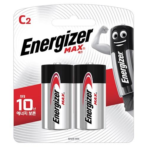 에너자이저 알카라인 맥스 건전지 C 2 (2알)