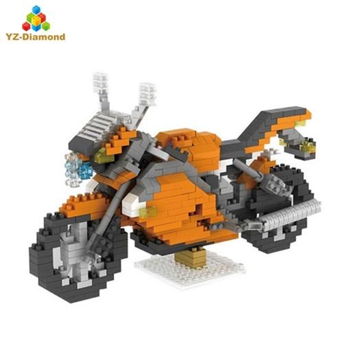 YZ047 나노블럭 아키텍쳐 미니블록 경기용 바이크 장난감