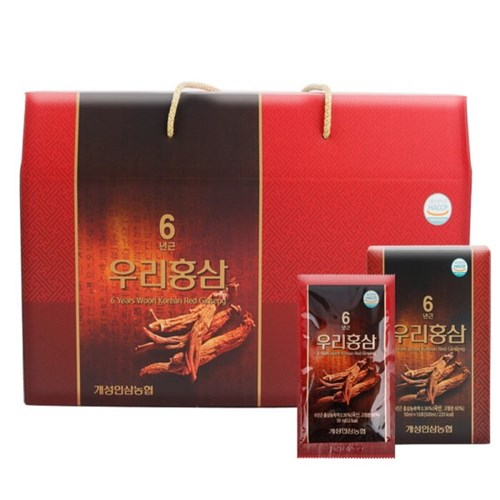 [개성인삼농협]개성인삼6년근우리홍삼 50mlX30포_(900626)