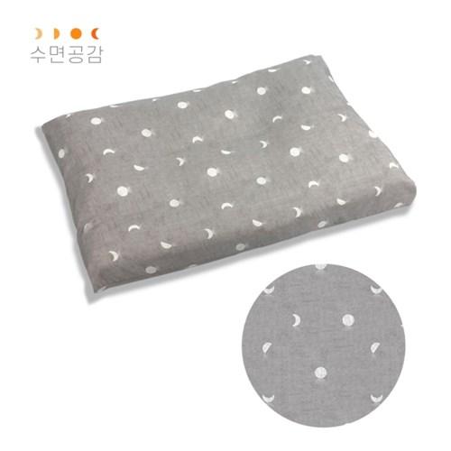 수면공감 우유베개 커버(50x70)/달패턴(알러지케어)
