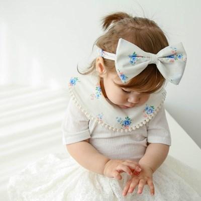 에리카 신생아 헤어밴드 아기턱받이 스카프빕