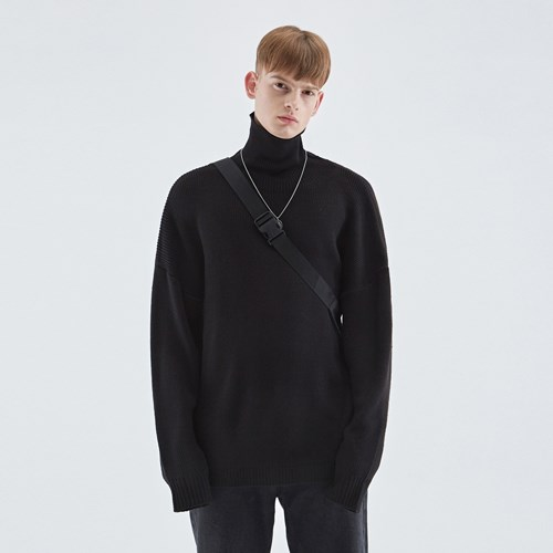 TURTLENECK LONG SLEEVE KNIT_BLACK