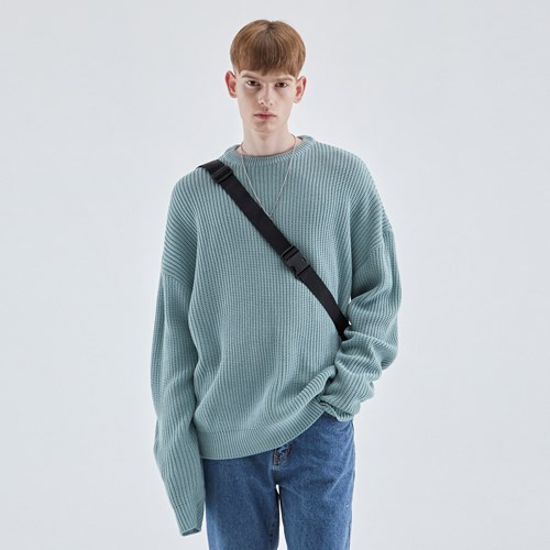 LONG SLEEVE OVER KNIT_MINT