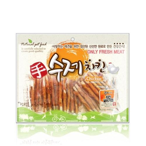 수제치킨 치킨꽈배기껌 400g 개껌 대용량간식 육포_(826440)