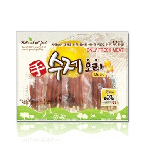 수제오리 오리꽈배기껌 400g 개껌 강아지간식 육포_(826403)