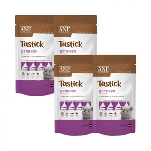 [4개세트] ANF 테이스틱 닭고기&오징어 4개입_(3300573)