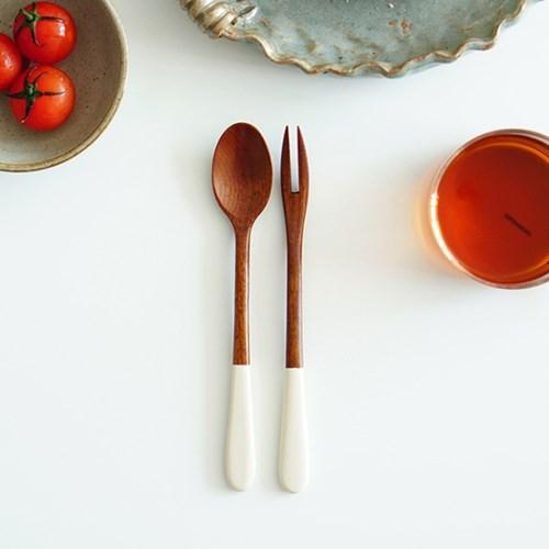 대추나무 엔틱수저 천연옻칠 티스푼 or 티포크