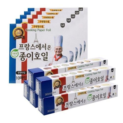 크린센스 프랑스 종이호일_원형10매x5팩+롤타입5mx5팩_(2358679)