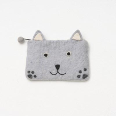 고양이 펠트 지갑