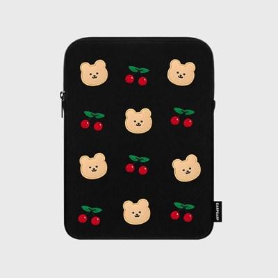 [12/04 예약발송]Dot cherry bear-ipad pouch(아이패드 파우치)