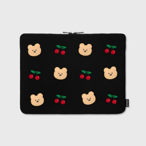 [12.13 예약배송]Dot cherry bear-13inch notebook pouch