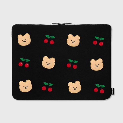 Dot cherry bear-15inch notebook pouch(15인치 노트북 파우치)
