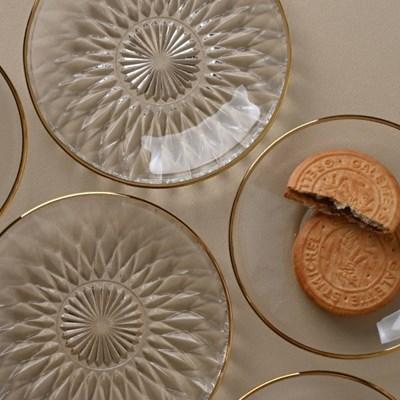 골드라인 오션 유리 접시 컵받침 2종1택_(1437559)
