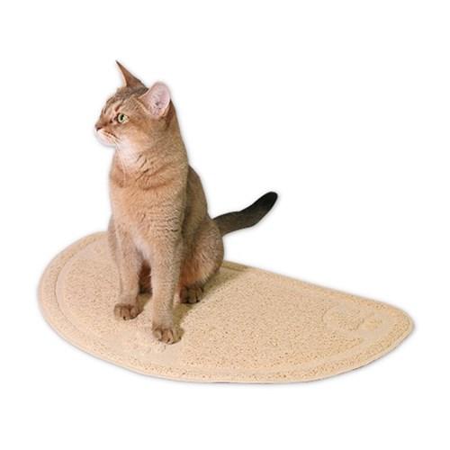 펫라이프 하프문 모래 매트 (베이지)
