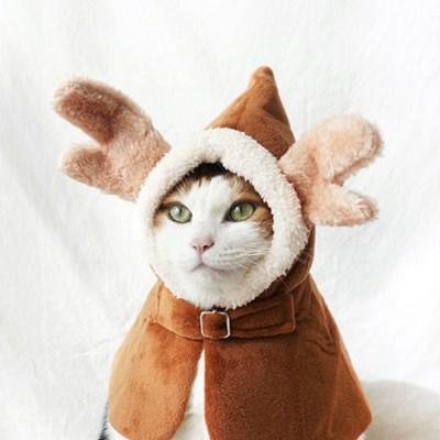 크리스마스 루돌프사슴 망토 망또 고양이 강아지 옷 Miyopet