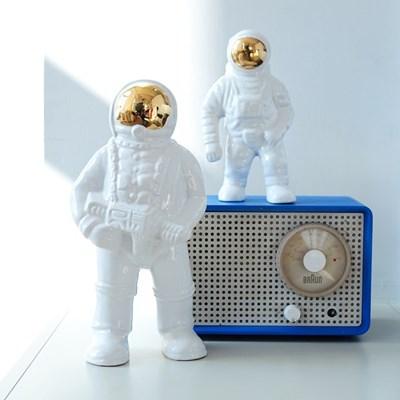우주비행사 빈티지 오브제 세라믹 화병