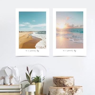 여름 인테리어 해변 바다 비치 거실그림 액자 아트 포스터