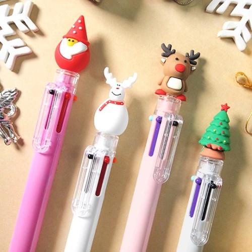크리스마스 6색 볼펜