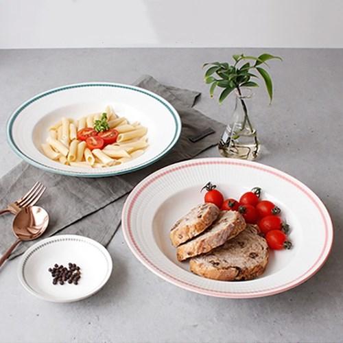meresine 마인드터치 파스타 접시 (대) - 4color