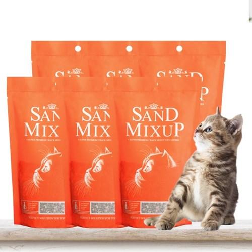 샌드믹스업 400g x 6개 고양이모래강화제 모래활성탄